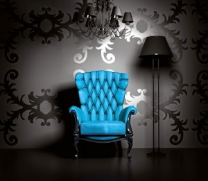blue antique chair